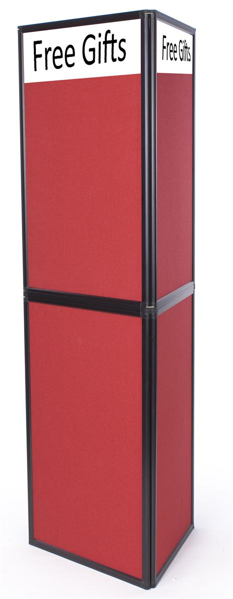 Portable Exhibition Panels : Portable display panel includes red custom text