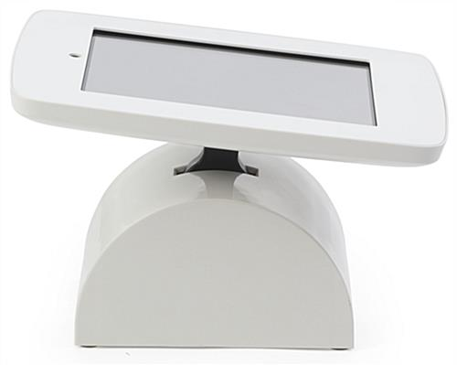 White iPad Point of Sale Stand