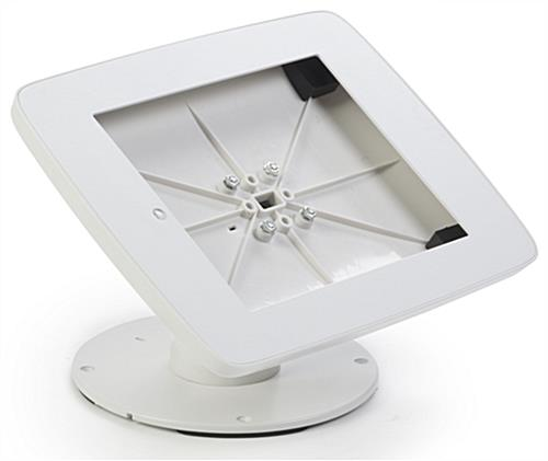 White iPad Checkout Stand with Tilting Bracket