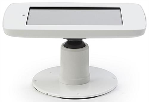 Portrait or Landscape White iPad Checkout Stand