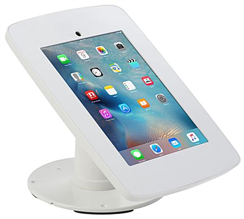 White iPad Checkout Stand for Tabletop Mounting