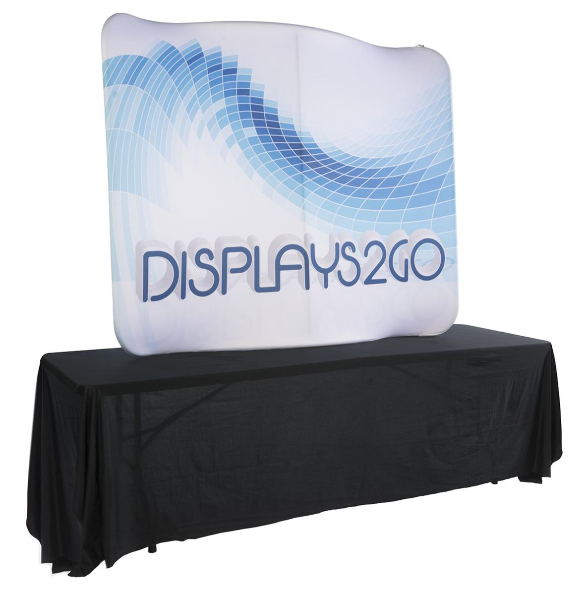 Curved Table Top Trade Show Display With Custom Graphics