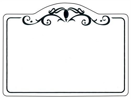 Decorative Retail Price Tags   Black Outlined Display