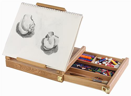 Pochade Box Artist Easel With Adjustable Canvas Holder and Secure Storage