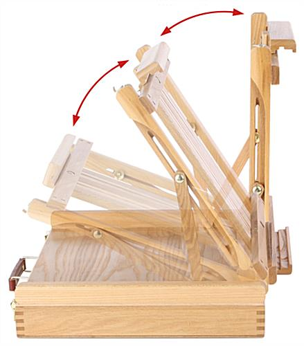 Pochade Box Artist Easel with adjustable holder