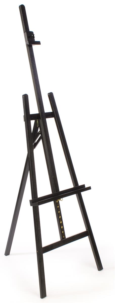 paint easels adjustable pine wood easel 59 66 tall color black