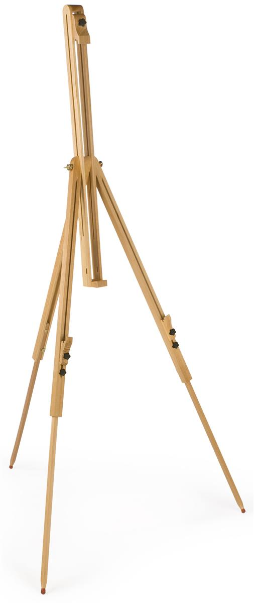 Displays2go Wood Art Easel for Floor, Tripod Design, Tilt...