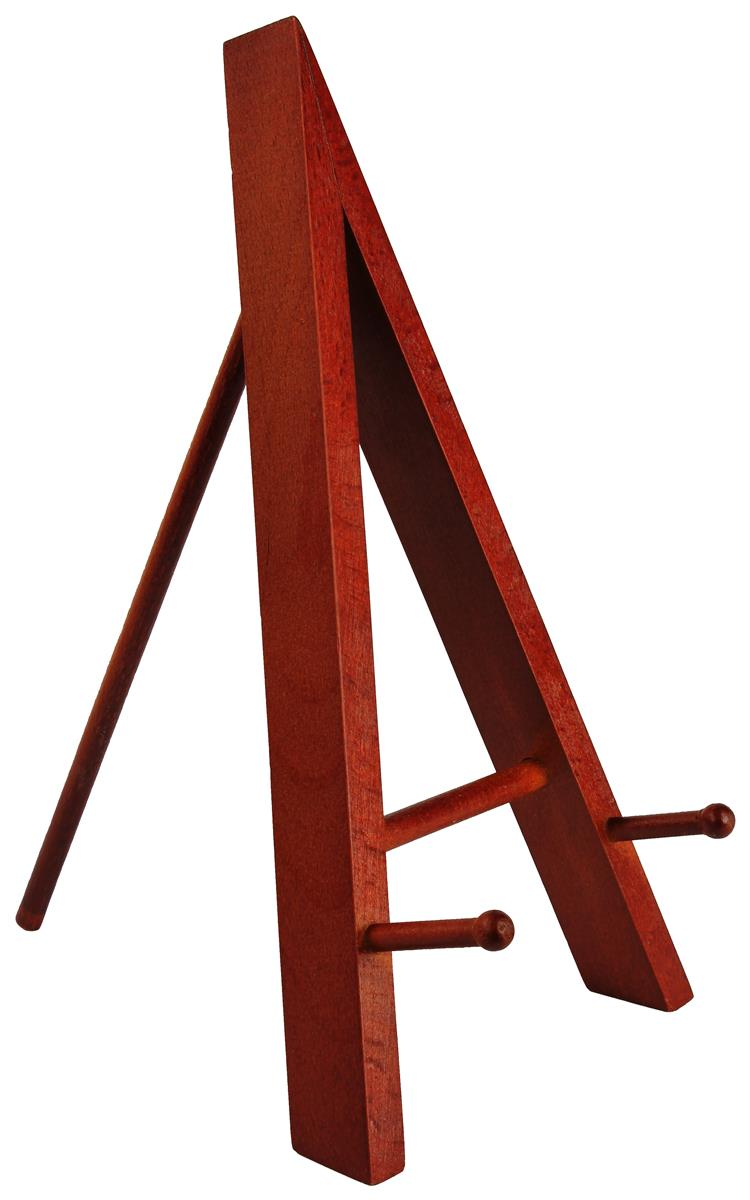 Tabletop easels wood mahogany finish amp two pegged front