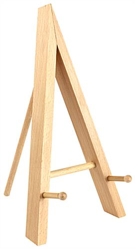 Table Top Easel With A Natural Wood Finish