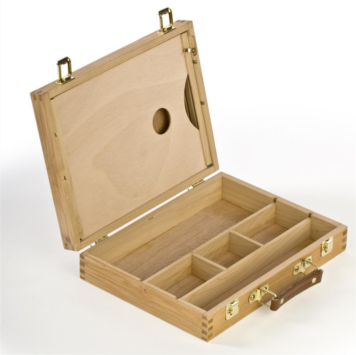 Wooden Art Box With Art Palette Holders Amp Tilting Drying Rack