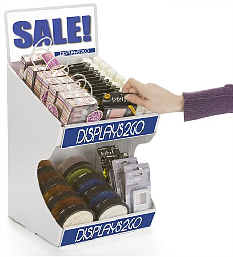 "Tabletop Corrugated Display, 10"" Overall Width"