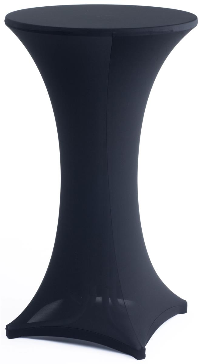 Stretch Cocktail Table Cover Black Fabric For Events