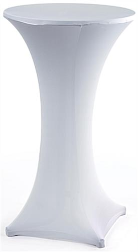 White Stretch Cocktail Table Cover Spandex Cover
