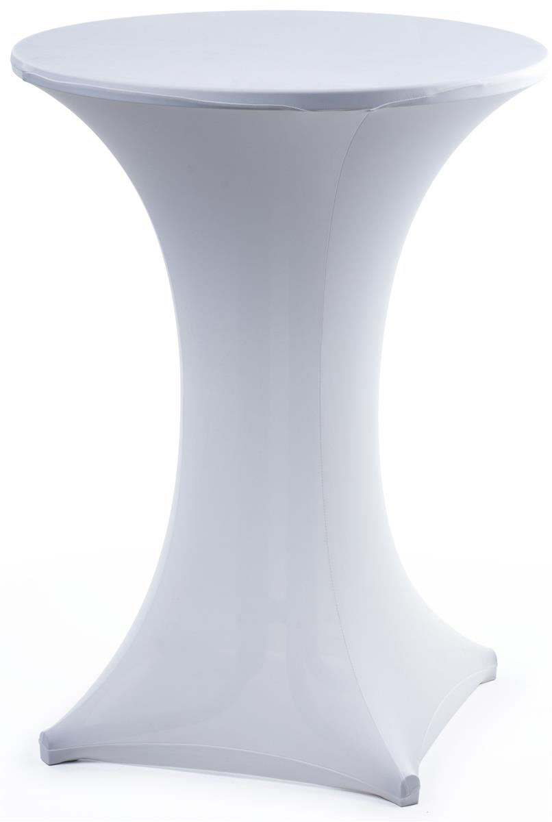 White Stretch Bar Table Cover Spandex Tablecloth