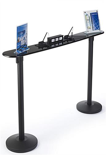 Easy to Set Up Writing Surface for Retractable Stanchions