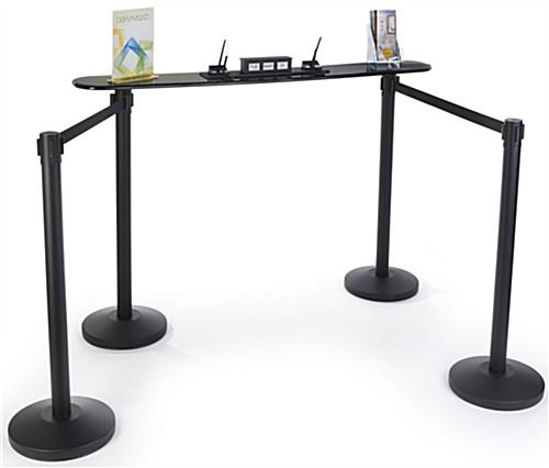 Stanchion Writing Surface for Waiting Lines