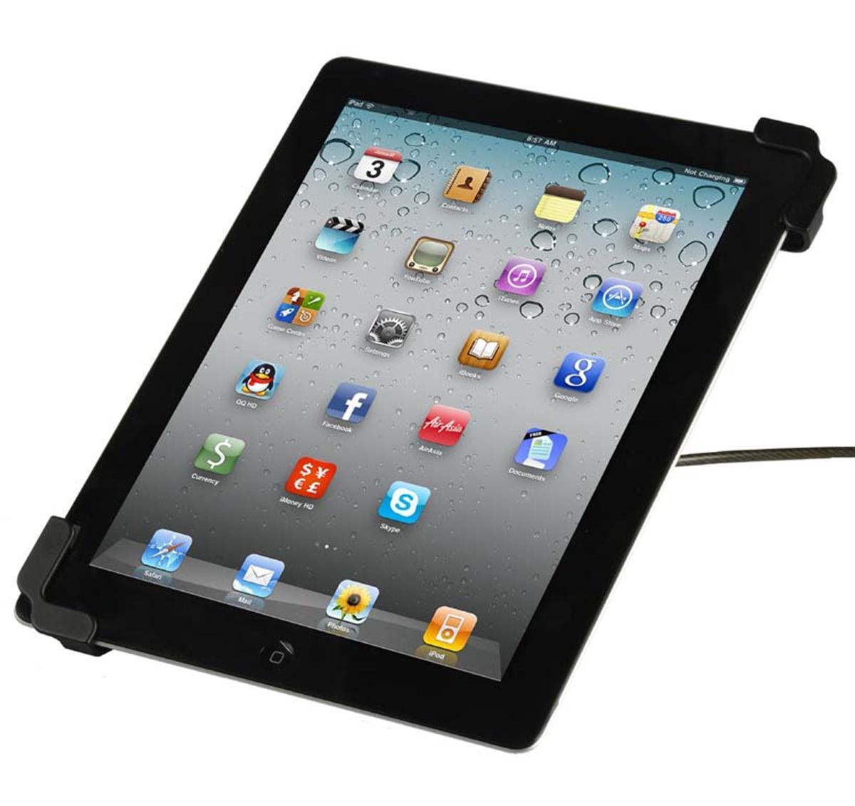 Displays2go iPad Bumper Case w/ Security Lock – Black