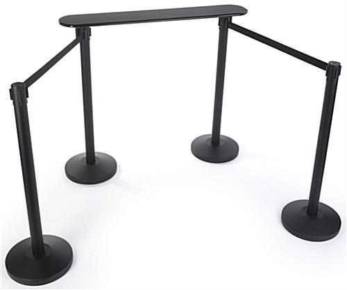 Large Queue Line Writing Surface with Stanchions