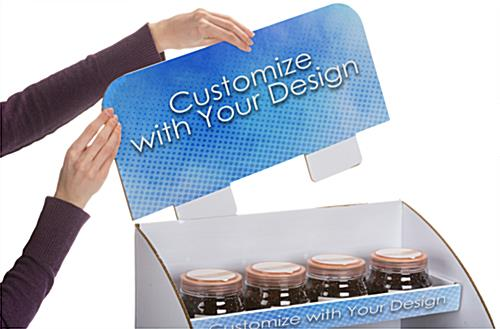 Custom corrugated POP display with removable header