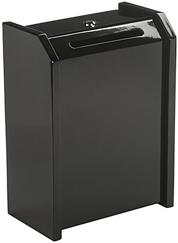 Black Top Locking Safe Box for Counter