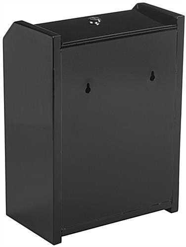 Black Top Locking Safe Box for Donations