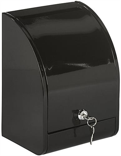 Black Drop Box With Front Door Key Lock Entry