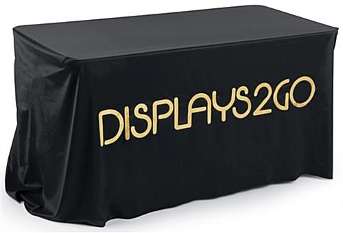 Branded Black Table Cover with Metallic Printing