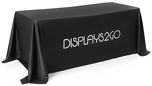 Convertible Branded Black Table Cover
