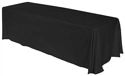black convertible table throw with custom printing