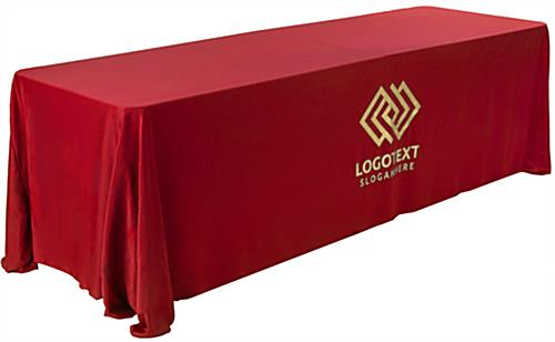 Machine-Washable Red Printed Table Cover