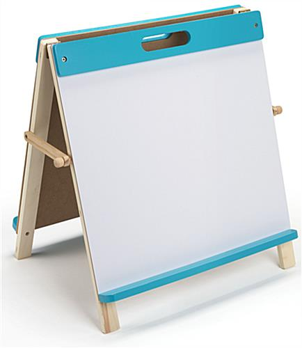 Kids Table Easel with Pine Frame