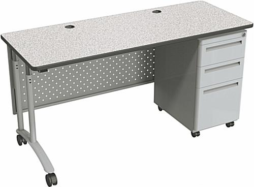 Charmant Gray Standing Office Desk