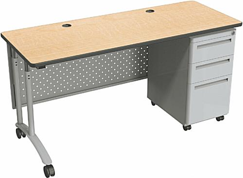 Adjustable Height Office Desk 3 Locking Drawers