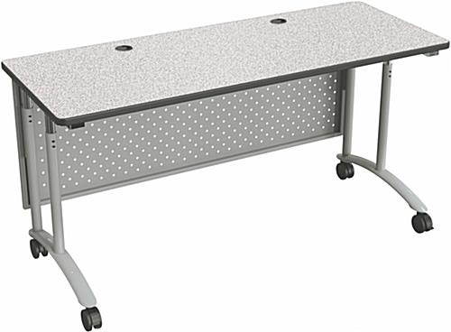 Gray Standing Computer Table