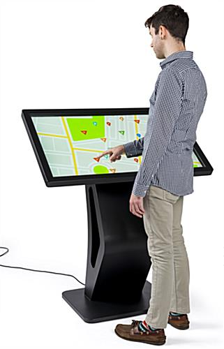 Android-based electronic touchscreen floor display kiosk directory