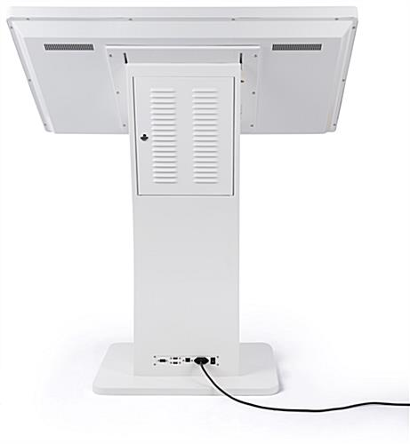 Touch screen directory floor stand with 12ms response time