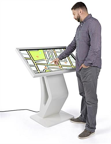 Interactive 10pt ir panel touch screen directory floor stand