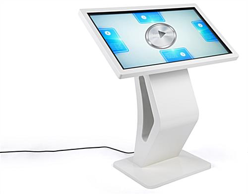 Interactive touch screen directory floor stand with bluetooth connectivity