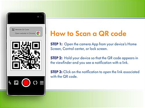 Custom printed decals with QR code for easy smartphone use