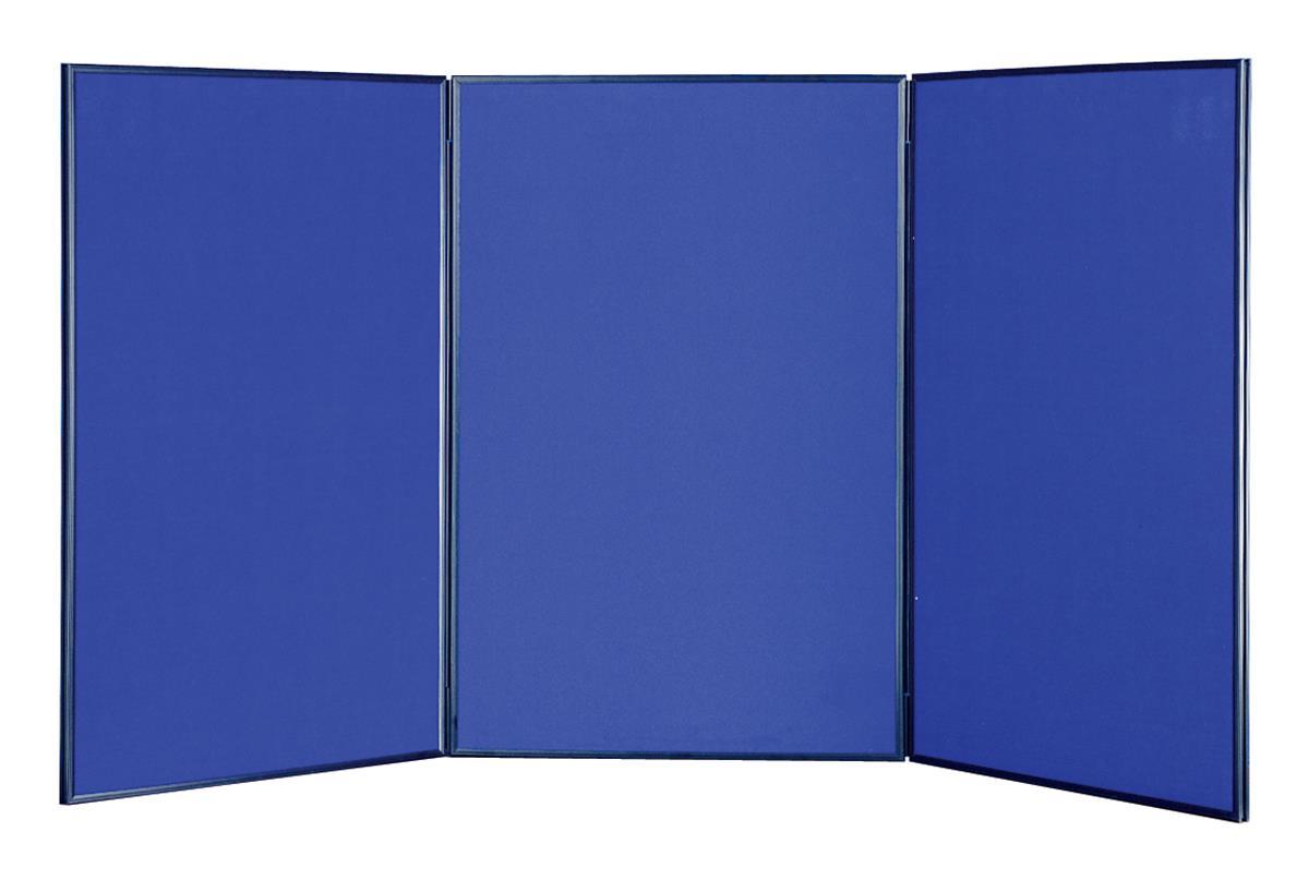 Portable Exhibition Board : Blue portable cheap tabletop trade show display board