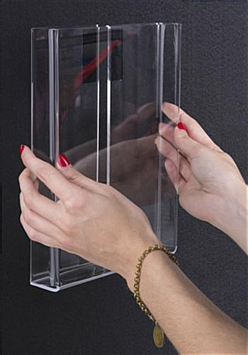 Hook and Loop-Receptive Brochure Holder