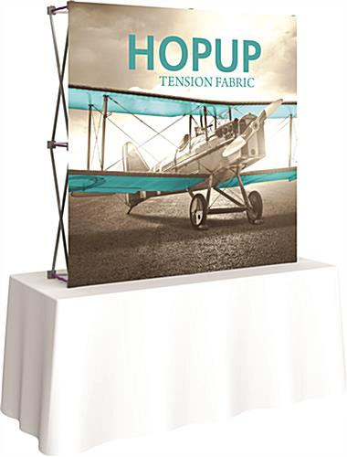 Tabletop Pop Up with Stretch Fabric Graphic
