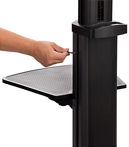 Widescreen monitor stand on wheels with allen key height adjustment