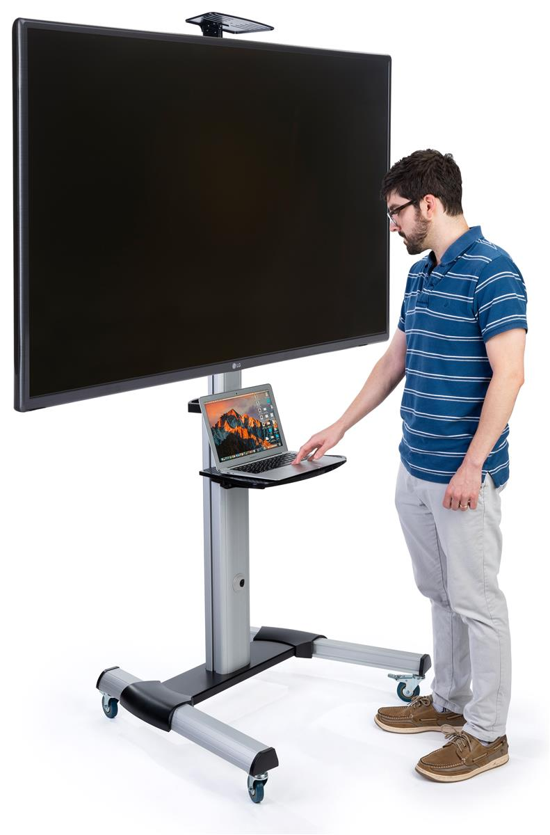 Rolling Tv Stand For Flat Screen Height Adjule