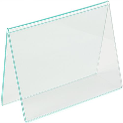Tent Style Bent Acrylic Frame