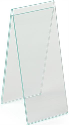 "4.25"" x 11"" Acrylic Table Tent for Countertop Use"