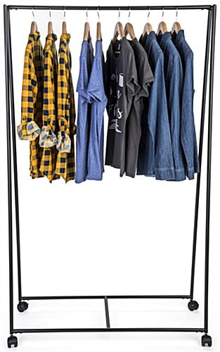 Pipe Teepee Clothes Rack with Single Garment Rail