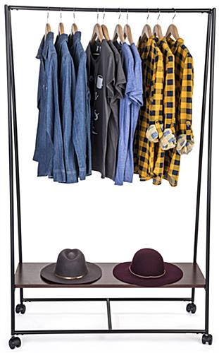 Pipe A-Frame Clothes Rack with Single Rail