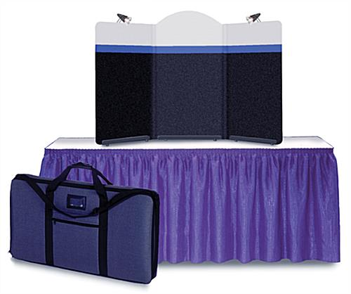 3 Panel Table Top Presentation Display