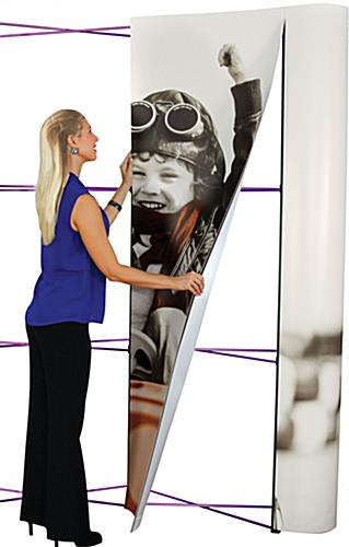Trade show pop up display with graphic panels